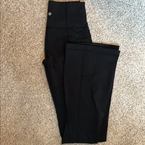 Lululemon black leggings 4 wide leg